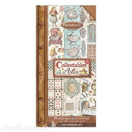 Papier scrapbooking Collectables Alice through the looking glass Stamperia 10f 15x30 recto verso