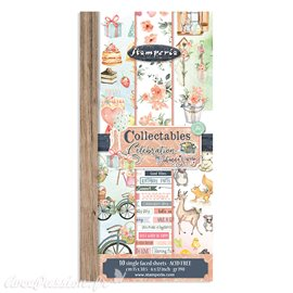 Papier scrapbooking Collectables Celebration Stamperia 10f 15x30 recto verso assortiment