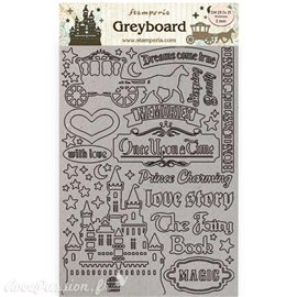 Chipboard carton Sleeping Beauty chateau Stamperia A4