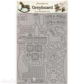 Chipboard carton Sleeping Beauty enfant Stamperia A4