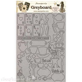 Chipboard carton Alice éléments Stamperia A4