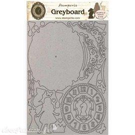 Chipboard carton Alice horloge Stamperia A4