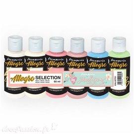 Peinture Kit 6 Allegro selection (KAL11-51-16-44-24-32) Stamperia