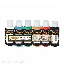 Peinture Kit 6 Allegro selection couleurs Alice (KAL102-42-30-03-43-05) Stamperia