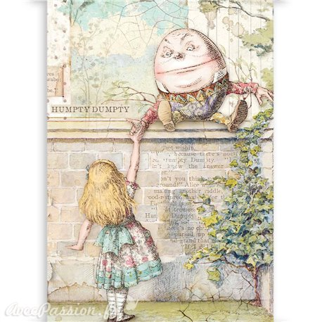 Papier scrapbooking acétate Alice Stamperia 6fe A4