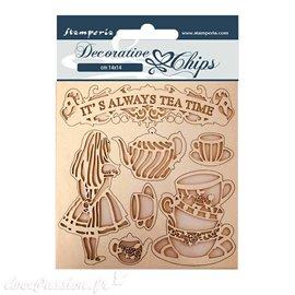 Chipboard carton Stamperia Alice tea time