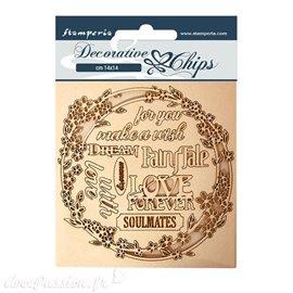 Chipboard carton Stamperia Sleeping Beauty guirlande d'amour