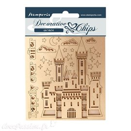 Chipboard carton Stamperia Sleeping Beauty chateau