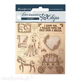 Chipboard carton Stamperia Sleeping Beauty coatch