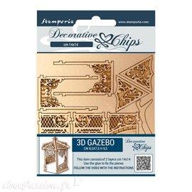 Chipboard carton Stamperia Sleeping Beauty gazebo n. 2 pieces