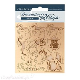Chipboard carton Stamperia Freedom