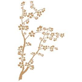 Pochoir décoratif Mya Arbre et branches 70x42cm - 68x40cm