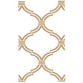 Pochoir décoratif Mya Damask 42x70cm - 40x68cm