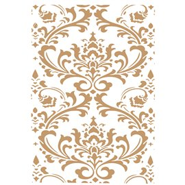 Pochoir décoratif Mya Home Decor Damask 50x70cm - 48x68cm