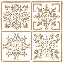 Pochoir décoratif Mya Home Decor tuile B 40x40cm - 38x38cm