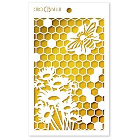 Pochoir scrapbooking Ciao Bella Queen Bee 12x20cm