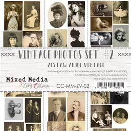 Cartes scrapbooking Craft O Clock Photos vintage II 15x30