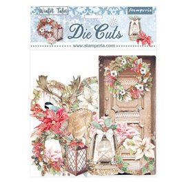 Die Cuts assortiment Winter Tales Christmas elements Stamperia