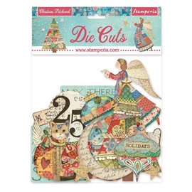 Die Cuts assortiment Christmas patchwork Stamperia