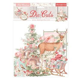 Die Cuts assortiment Pink Christmas Stamperia