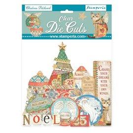 Die Cuts Clear Christmas patchwork  Stamperia