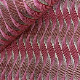 Papier indien dune fond rouge motifs rose ligne rose et or