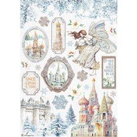 Papier de riz Winter Tales château Stamperia A4