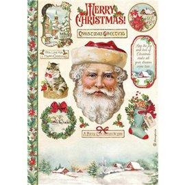 Papier de riz Classic Christmas Père Noël Stamperia A4