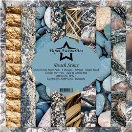 Papier scrapbooking Dixi Craft Paper Favourites beach stone 30x30 8fe assortiment