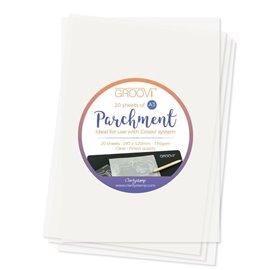 Groovi papier parchemin blanc regular A3 20fe 150gr/m2