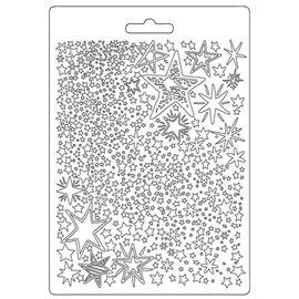 Moule souple Christmas Patchwork étoiles Stamperia A5