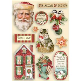 Chipboard bois Classic Christmas Stamperia silhouettes entaillées A5