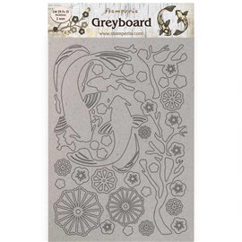 Chipboard carton Sir Vagabond in Japan poisson  Stamperia A4