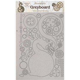 Chipboard carton Sir Vagabond in Japan dragon Stamperia A4