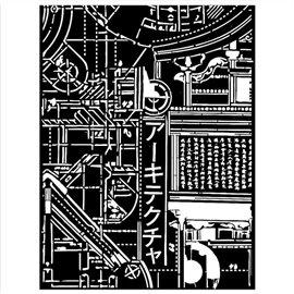 Pochoir décoratif Sir Vagabond in Japan mécanisme de texture 15x20cm Stamperia