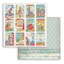 Papier Scrapbooking Christmas Patchwork cartes Stamperia 30x30cm double face
