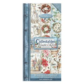 Papier scrapbooking Collectables Winter Tales Stamperia 10f 15x30 recto verso