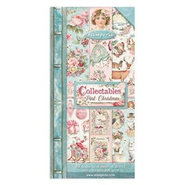 Papier scrapbooking Collectables Pink Christmas Stamperia 10f 15x30 recto verso