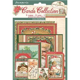 Collection Classic Christmas Stamperia 7 cartes 5 tag 1 signet 10x15cm