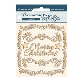 Chipboard carton Pink Christmas cadres Stamperia 14x14cm