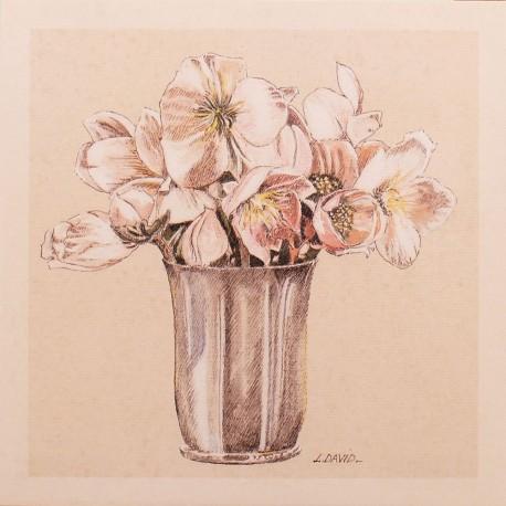 Carte d'art fleurs petit bouquet 1