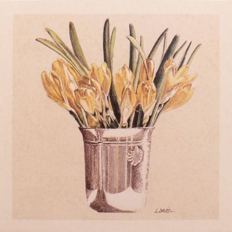 Carte d'art fleurs petit bouquet 2