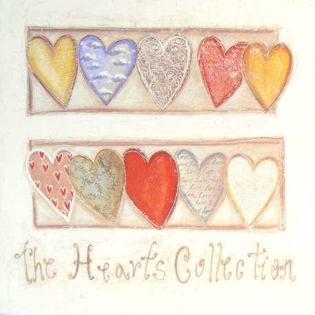 Carte d'art coeur the hearts collection