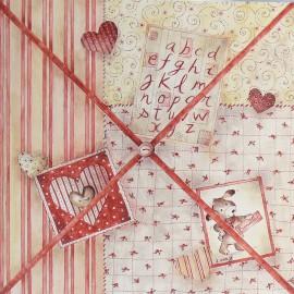 Carte d'art Joelle Wolff pêle mêle bienvenue