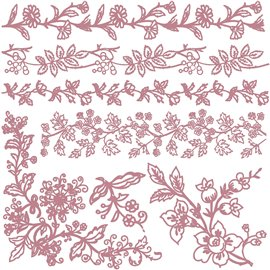 Tampon Redesign Decor Stamps Bold Branches 30,5x30,5cm - 7 pièces