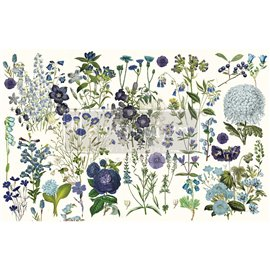 Papier de Murier Mulberry Decoupage Decor Tissue Paper Blue Meadows Redesign 48x76cm