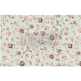 Papier de Murier Mulberry Decoupage Decor Tissue Paper Neautral Florals Redesign 48x76cm