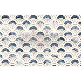 Papier de Murier Mulberry Decoupage Decor Tissue Paper Marbled Scales Redesign 48x76cm