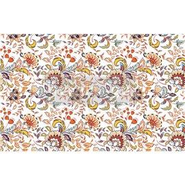 Papier de Murier Mulberry Decoupage Decor Tissue Paper Tangerine Spring Redesign 48x76cm