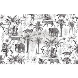 Papier de Murier Mulberry Decoupage Decor Tissue Paper Wild Savanna Redesign 48x76cm